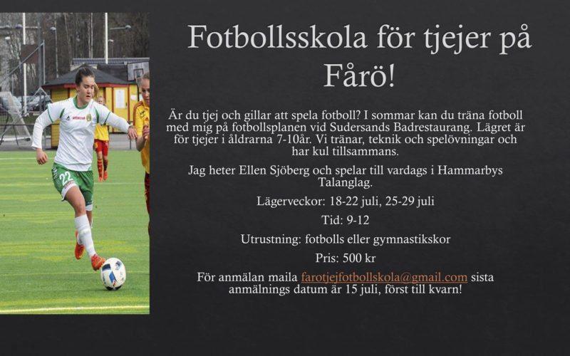 Fotbollskola för tjejer